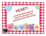 HEART!  A Valentine Bingo Game for Listening/Identifying C