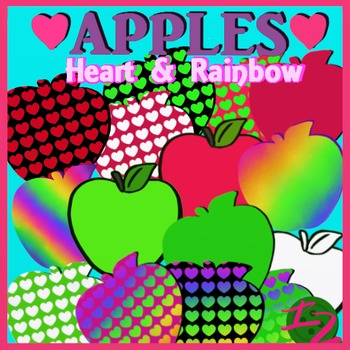 HEART AND RAINBOW APPLES