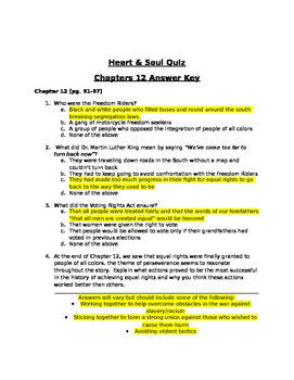 HEART AND SOUL READY GEN QUIZ CHAPTER 12