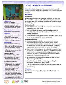 HEART (Humane Education): Activity 3 - Happy Pet Environme