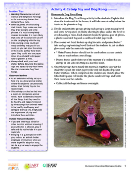 HEART (Humane Education): Activity 4 - Catnip Toy and Dog Kong (Grades K-2)