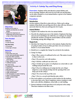 HEART (Humane Education): Activity 4 - Catnip Toy and Dog