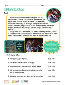 HEART (Humane Education): Activity 5 - Nonfiction Stories (Grades K-2)