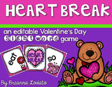 HEART BREAK: an editable Valentine's Day sight word game