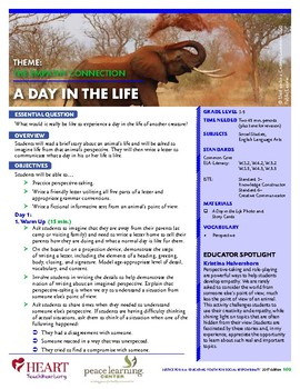 HEART Humane Education: A Day in the Life (Grades 3-5)