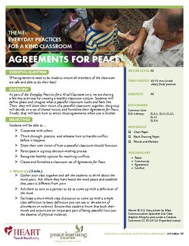 HEART Humane Education: Agreements for Peace (Grades K-2)