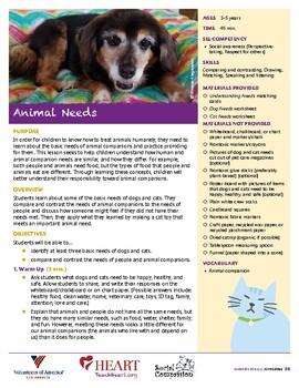 HEART Humane Education: Animal Needs
