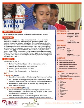 HEART Humane Education: Becoming a Hero (Grades K-2)