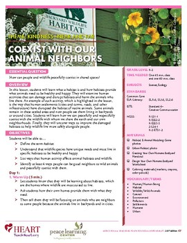 HEART Humane Education: Coexist With Our Animal Neighbors (Grades K-2)