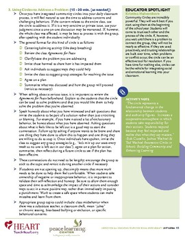 HEART Humane Education: Community Circle (Grades K-2)