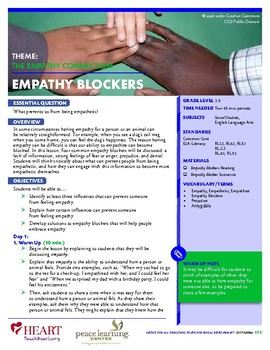HEART Humane Education: Empathy Blockers (Grades 3-5)
