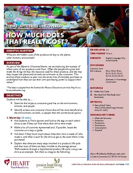 HEART Humane Education: How Much Does That Really Cost? (Grades 3-5)