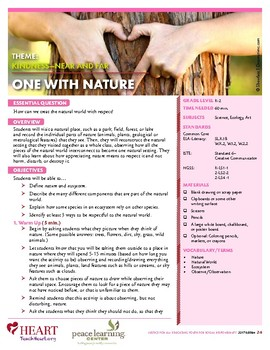 HEART Humane Education: One With Nature (Grades K-2)