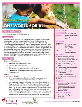 HEART Humane Education: One World For All (Grades K-2)