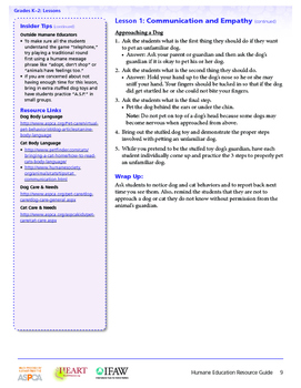 HEART (Humane Education): Lesson 1 - Communication and Empathy (Gr. K-2)