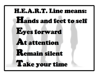 HEART Line Rules sign