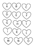 HEART SHAPED ALPHABET  FOR BOTTLECAPS
