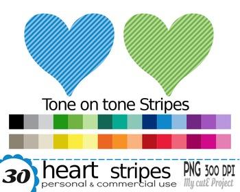 HEART Stripes | Clipart | 30 png files | Scrapbooking Clip