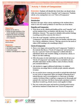 HEART Humane Education: Circle of Compassion (Grades 3-5 Activity 1)