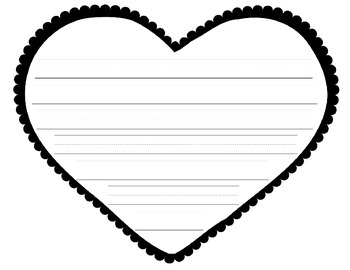 HEART WRITING PAPER FREEBIE
