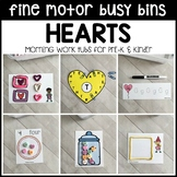 HEARTS Fine Motor Busy Bins -Valentine's Day morning work tubs- Preschool, Pre-K