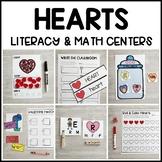 HEARTS Literacy & Math Centers for Valentine's Day (Presch