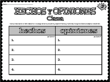HECHO y OPINIÓN Workstation - in SPANISH!!!