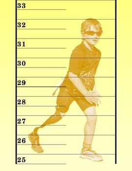 HEIGHT CHART WITH PHOTOGRAPHS