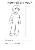 HEIGHT MEASUREMENT CM for Boys and Girls