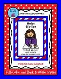 HELEN KELLER BIOGRAPHY Book and Coloring Book