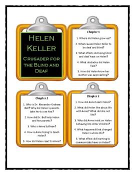HELEN KELLER Crusader for the Blind and Deaf  - Discussion Cards