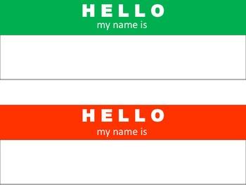 HELLO Desk Name Tags {Freebie}