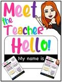 HELLO MY NAME IS... BITMOJI MEET THE TEACHER BACK TO SCHOO