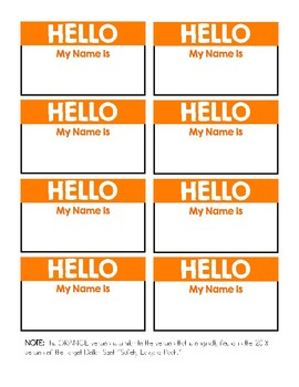 HELLO My Name Is: Target's Safety Lanyard Pack Replacement Cards