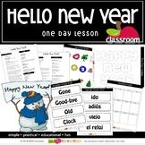 HELLO NEW YEAR! Preschool PreK Kindergarten 1-Day Lesson Plan