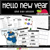 HELLO NEW YEAR! Preschool PreK Kindergarten 1-Day Lesson Plan