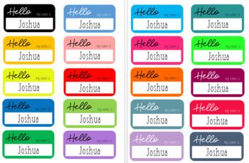 HELLO Name Labels (EDITABLE)