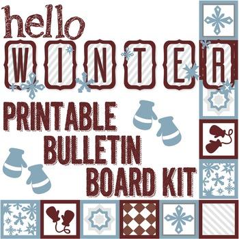 HELLO WINTER Printable Bulletin Board Kit