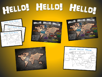 HELLO! in 12 languages: Fun, Interactive 40-slide PPT with