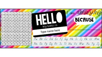 HELLO my name is - desk names/tags