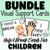 HELP & BREAK CARDS - Visual Aids BUNDLE! Great for students with Autism!