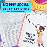 No Prep Social Skills Activities for 4th-8th grade - Distance Learning
