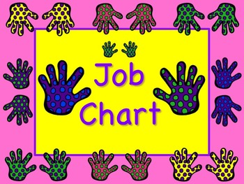 HELPING HANDS Theme Job Chart Cards / Signs - Great for Classroom Management!