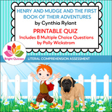 HENRY AND MUDGE: THE FIRST BOOK | MULTIPLE CHOICE PRINTABLE QUIZ