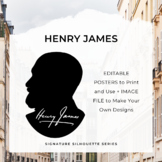 HENRY JAMES Signature Silhouette Posters