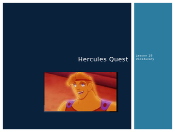 HERCULES QUEST ~ Journeys Lesson 18 Vocabulary