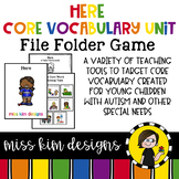 HERE Core Vocabulary Bundle for Special Education Teachers