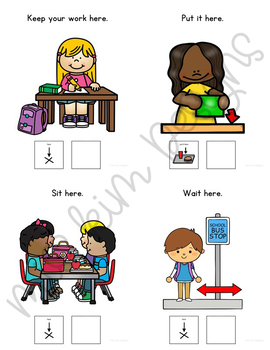 HERE Core Vocabulary Unit for Teachers of Students with Autism & Special Needs