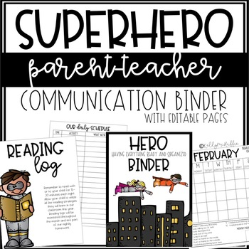 HERO Communication Binder - EDITABLE
