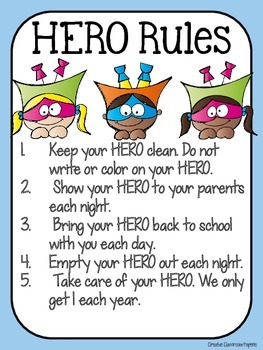 H.E.R.O. Folder {Helping Everyone Remain Organized} Parent Communication Tool